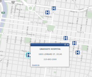 Hospitals phila.gov/map