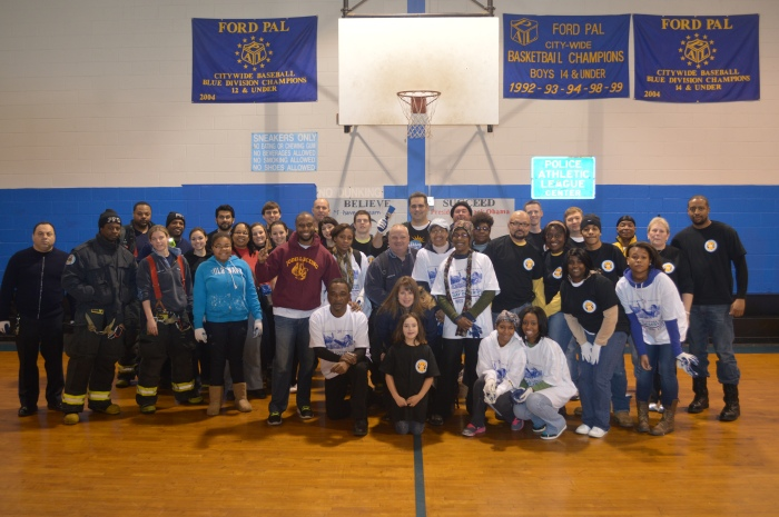 Adé Fuqua coordinated the repainting and clean-up of the Ford PAL Center in Southeast Philadelphia. MDO staff and their families volunteered at this location.