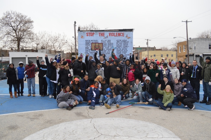 Fuqua also coordinated the repainting of the basketball court and lot clean-up at 20th Street and Tasker in the Point Breeze community.