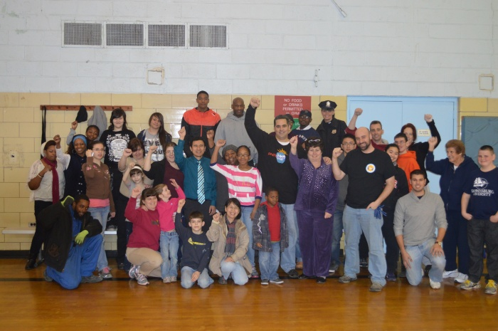 Manny Citron coordinated outdoor and indoor projects at the Lawncrest Recreation Center.