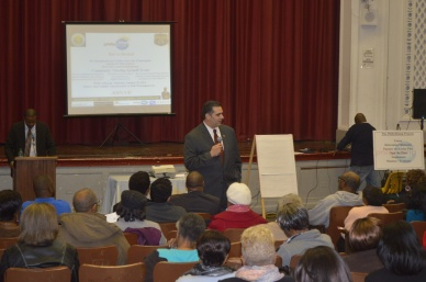 Managing Director/Deputy Mayor Richard Negrin speaks at the PhillyRising Kick-Off Event in Kingsessing