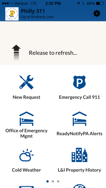 Refreshing the Philly311 Mobile App